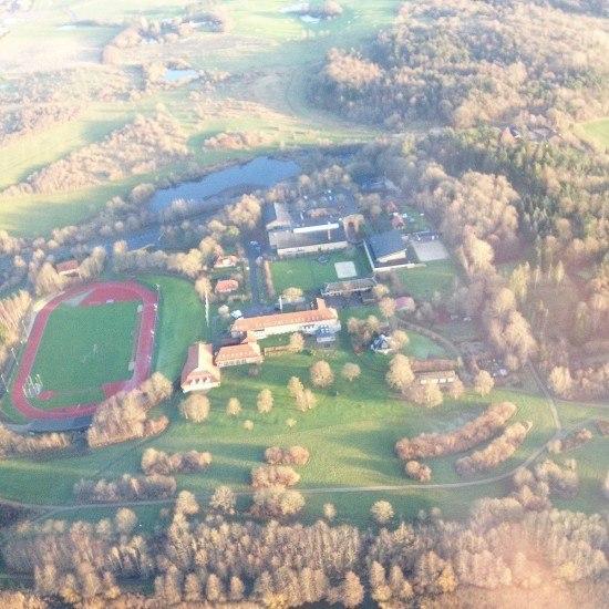 Luftfotoaf Idrætshøjskolen Viborg