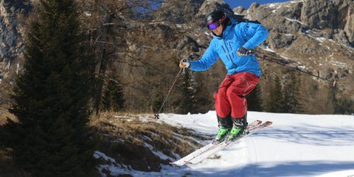 Ski-eleverne på tur